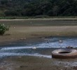 Seca em rios é oportunidade de limpeza do lixo exposto