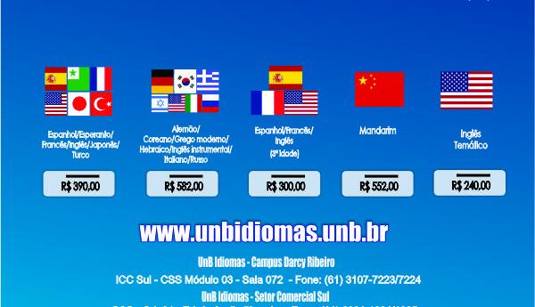 UnB Idiomas está com vagas abertas para novas turmas